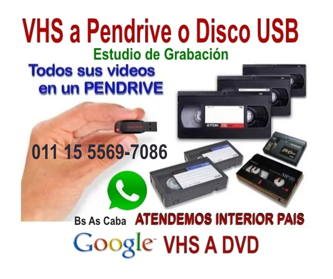 VHS Video a Pendrive